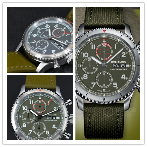 Breitling Replicas new military green watch, reproduce a flight legend
